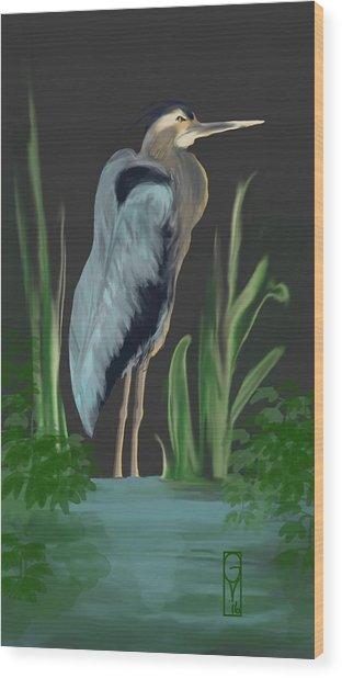 Egret I Wood Print