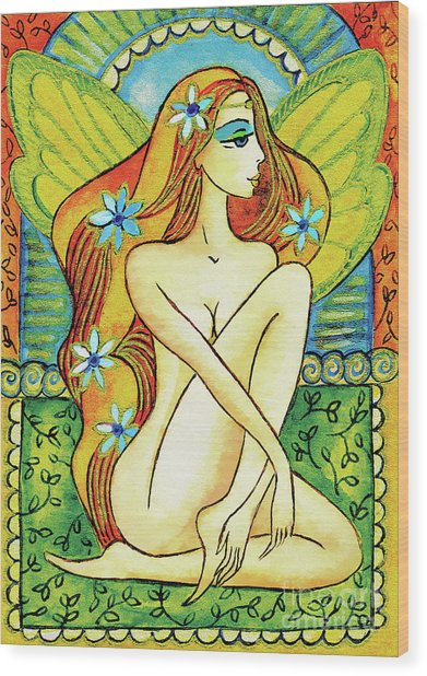 Egyptian Fairy I Wood Print