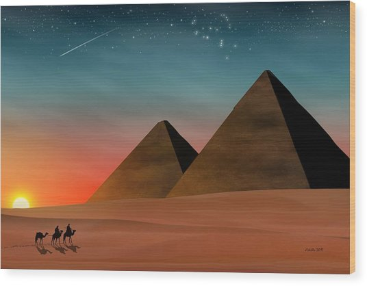 Egyptian Pyramids Wood Print