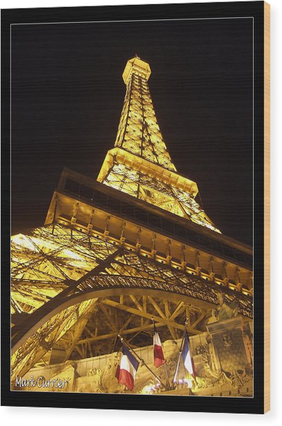 Eiffel Tall Wood Print