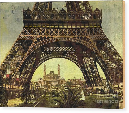 Eiffel Tower 1900 Wood Print