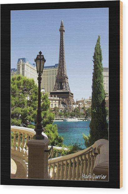 Eiffel Tower In Vegas Wood Print