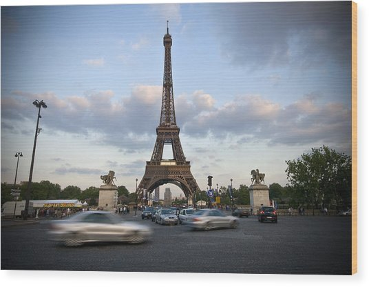 Eiffel Tower Wood Print by Krista  Corcoran Photography