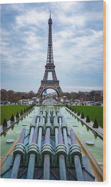 Eiffeltower From Trocadero Garden Wood Print