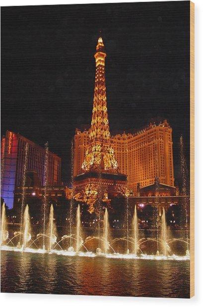 Eiffle Tower Las Vegas Wood Print by Greg Brandt