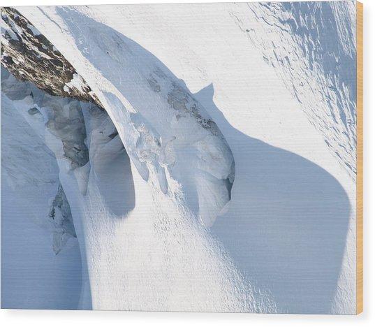 Eiger Wood Print by Randall Slinkard