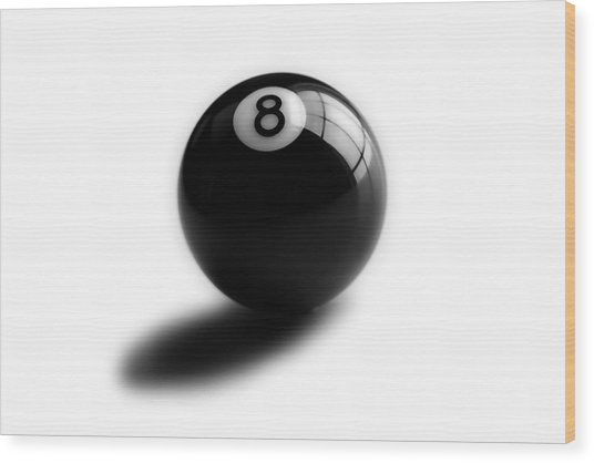 Eight Ball Wood Print by Mark Wagoner