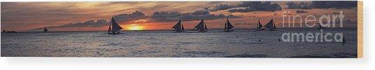 Eight Sailer Wood Print