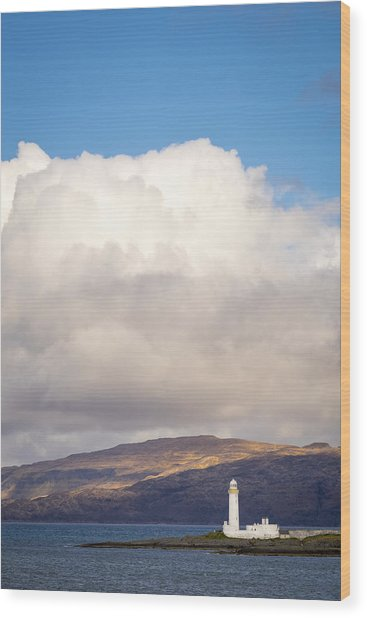 Eilean Musdile Lighthouse On Lismore Wood Print