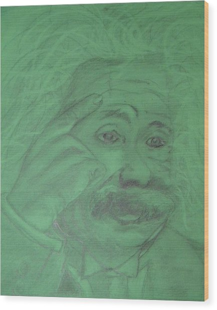 Einstein Wood Print