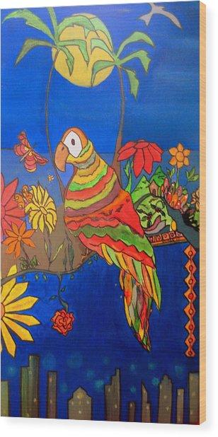 El Bird Wood Print by MikAn 'sArt