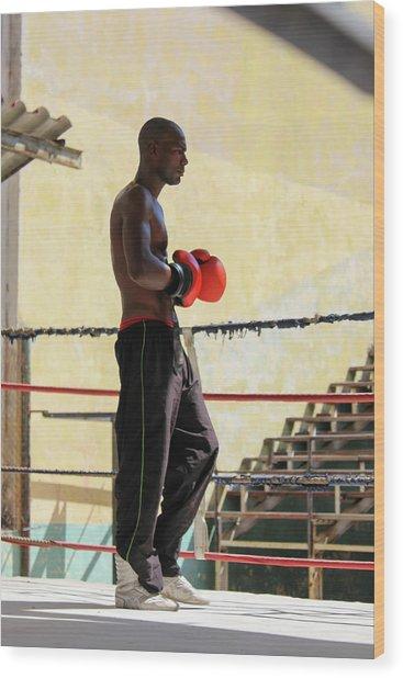 El Boxeador Wood Print