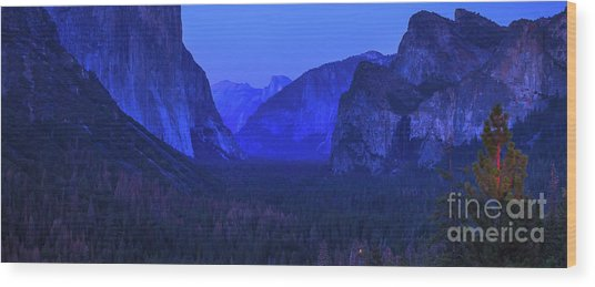 El Capitan Blue Hour Wood Print