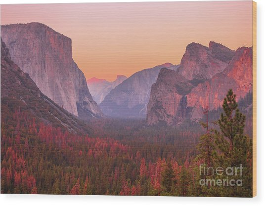 El Capitan Golden Hour Wood Print