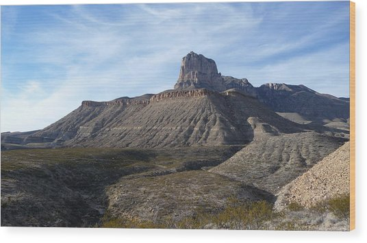 El Capitan - Guadalupe Mountains National Park Wood Print
