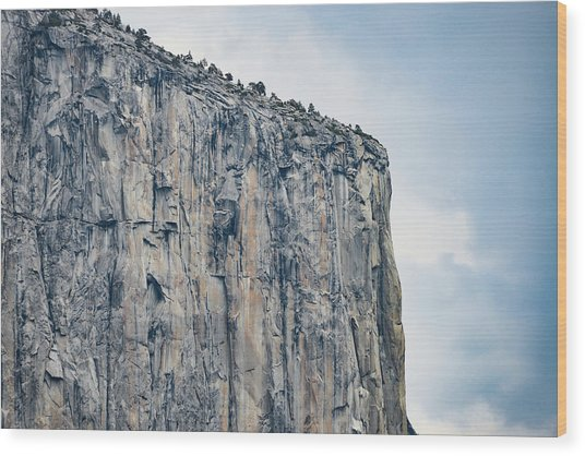El Capitan Up Close And Personal From Tunnel View Yosemite Np Wood Print