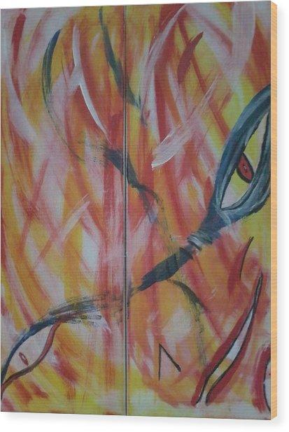 El Diablo Wood Print