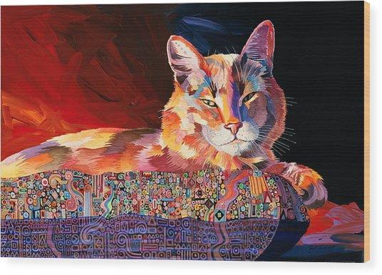 El Gato Sonata Wood Print