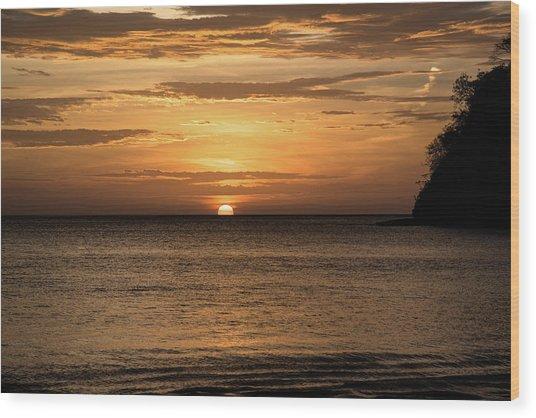 El Jobo Sunset Wood Print by Michael Santos