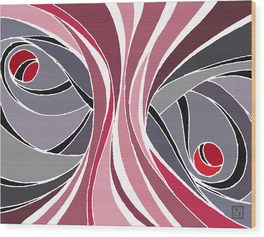 el MariAbelon red Wood Print