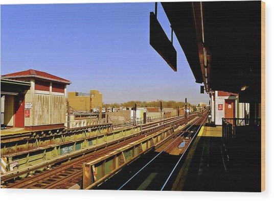 El Station Brooklyn Wood Print by Frank Winters
