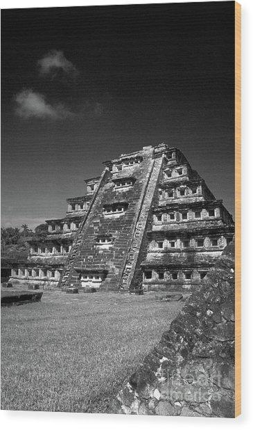 El Tajin Pyramid Veracruz Mexico Wood Print