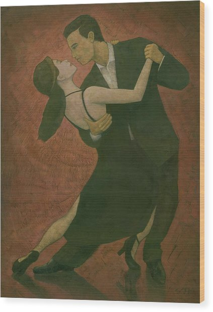 El Tango Wood Print by Steve Mitchell