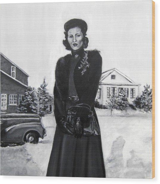 Elda Wood Print by Natalie Mae Richards