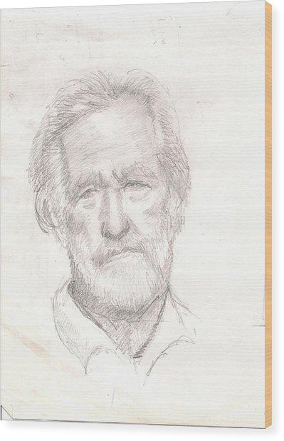 Elderly Man Wood Print