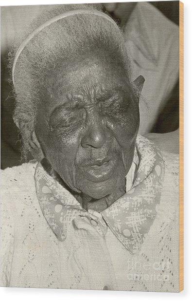 Elderly Woman Wood Print by Andrea Simon