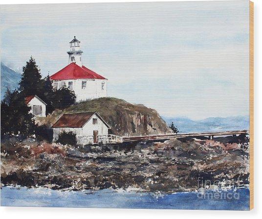Eldred Rock Lighthouse Wood Print
