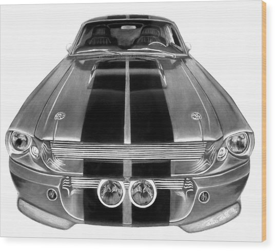Eleanor Ford Mustang Wood Print