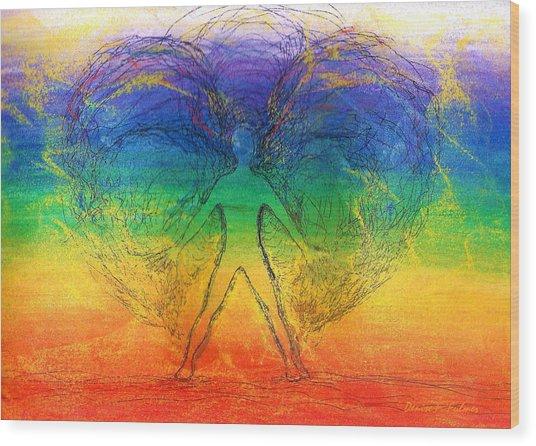 Electric Angel Wood Print