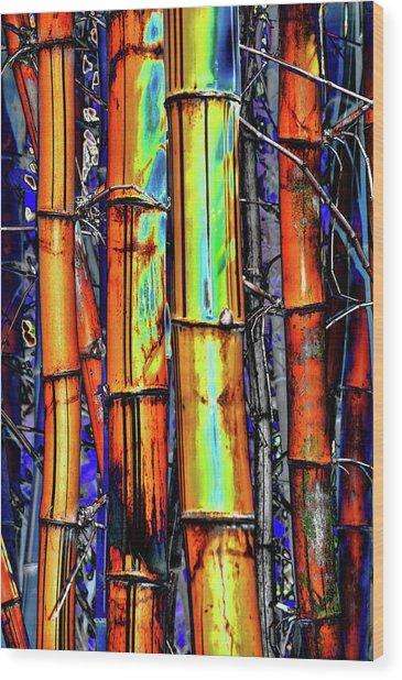Electric Bamboo 3 Wood Print