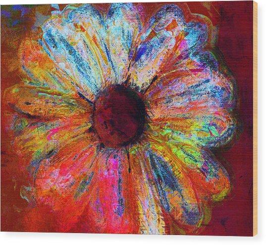 Electric Daisy Wood Print