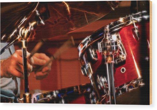Electric Drums Wood Print