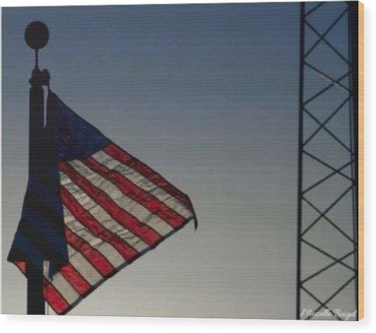 Electric Flag Wood Print