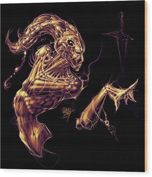 Electric Genie Wood Print by David Bollt