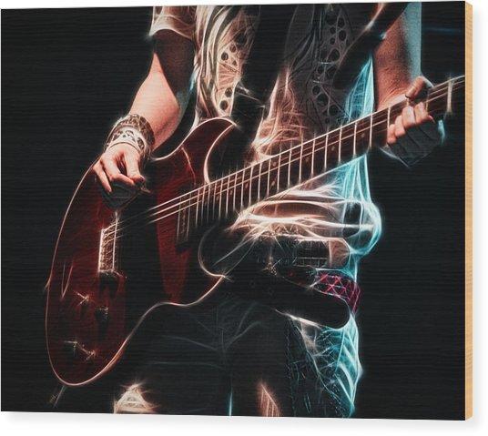 Electric Rock Wood Print