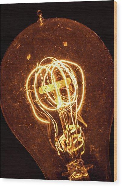 Electricity Through Tungsten Wood Print