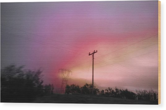 Wood Print featuring the photograph Electrified by Pacific Northwest Imagery