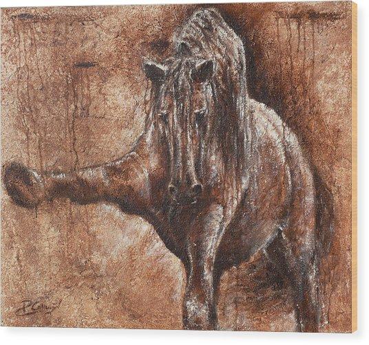 Elegance Of Joy Wood Print by Paula Collewijn -  The Art of Horses