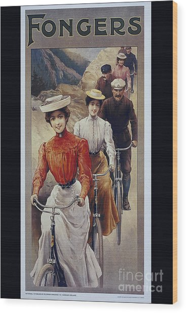 Elegant Fongers Vintage Stylish Cycle Poster Wood Print
