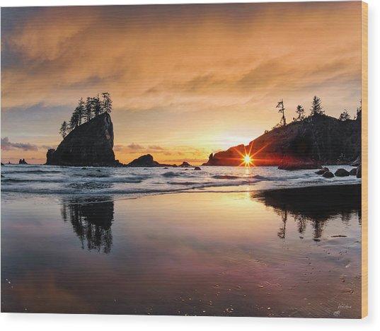 Wood Print featuring the photograph Elegant Ocean Light by Leland D Howard