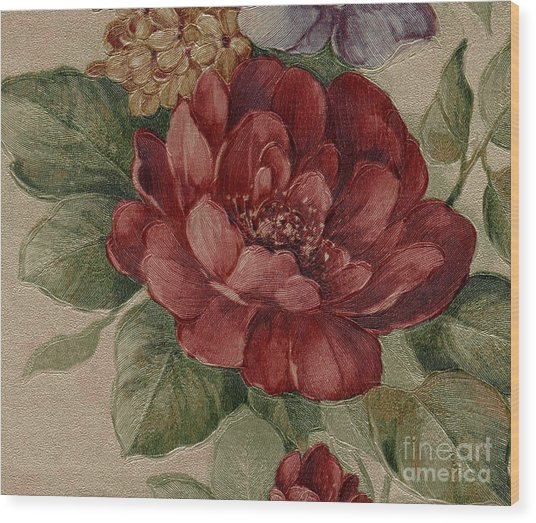 Elegant Rose Wood Print