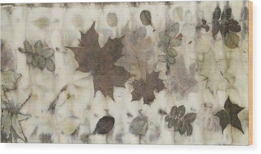 Elements Of Autumn Wood Print