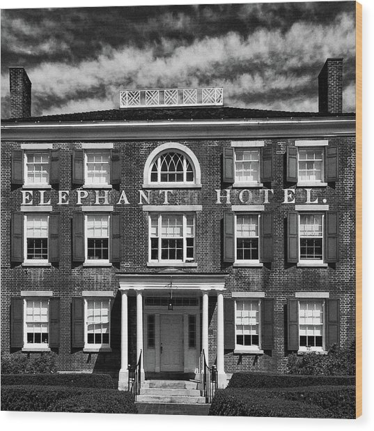 Wood Print featuring the photograph Elephant Hotel by Eric Lake