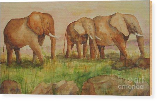 Elephant Parade Wood Print