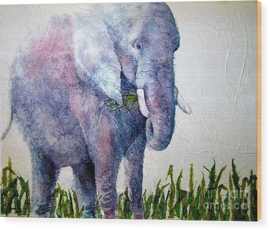 Elephant Sanctuary Wood Print