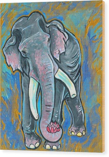 Elephant Spirit Dreams Wood Print